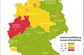 BÜRGEL Wirtschaftsinformationen GmbH & Co. KG: Firmeninsolvenzen sinken in Deutschland um 6,3 Prozent