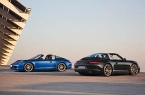 Porsche Schweiz AG: Mit innovativem Targa-Dach: Weltpremiere eines modernen Klassikers / Der neue Porsche 911 Targa (BILD/ANHANG)