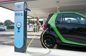RWE Effizienz GmbH: Elektroautos: Deutschlandweites Laden bei 80 Partnern von RWE