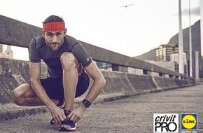 """LIDL: Lidl führt neue Sportswear-Marke """"crivit PRO"""" ein / Funktionalität, Qualität und Tragekomfort stehen bei der Sportbekleidung für anspruchsvolle Sportler im Mittelpunkt"""