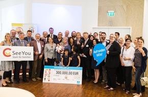 Stiftung SeeYou: 300.000 Euro für sozial benachteiligte Kinder