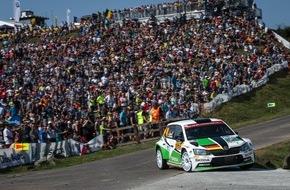 Skoda Auto Deutschland GmbH: SKODA Youngster Kreim bei der Rallye Deutschland weiter in den Top Ten