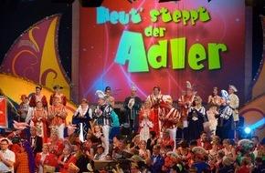 """Rundfunk Berlin-Brandenburg (rbb): Am 8. Februar 2015: Karnevalssonntag im rbb Fernsehen - """"Zug der fröhlichen Leute"""" live, abends die Gala """"Heut' steppt der Adler"""""""