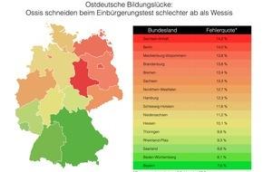 fabulabs GmbH: Ostdeutsche Bildungslücke: Ossis schneiden beim Einbürgerungstest schlechter ab als Wessis