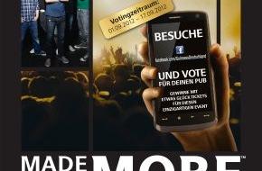 """Diageo Guinness Continental Europe: Arthur Guinness Day 2012: Größte Party zu Ehren des Guinness-Gründers / Deutsche Band """"Revolverheld"""" ist Markenbotschafter - Karten für exklusives Live-Konzert zu gewinnen"""