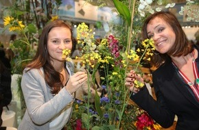 """Messe Berlin GmbH: Grüne Woche 2016: Blumenhalle feiert den """"Karneval der Blumen"""". Frühlingserwachen im Januar mit Abertausenden Blühpflanzen an neuem Standort in Halle 2.2"""