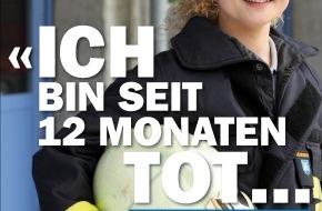 Swisstransplant: «Ich bin tot...» - Kampagne von Swisstransplant sensibilisiert für Organspende