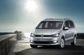 VW / AMAG Automobil- und Motoren AG: Premiere für ein Leben in Fahrt: Neuer VW Sharan ist der weltweit sparsamste Van seiner Klasse