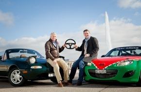 """Mazda (Suisse) SA: """"Fahrerwechsel"""" bei Mazda (Suisse) SA / Generaldirektor  Alfred F. Gubser übergibt die Schlüssel zu Mazda (Suisse) SA an Nachfolger Damian Donnellan"""