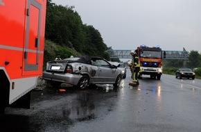 Feuerwehr Gelsenkirchen: FW-GE: Ein Verletzter bei Verkehrsunfall auf der A2 in Gelsenkirchen