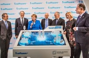 Software AG: Bundeskanzlerin Merkel besucht Software AG auf CeBIT 2016