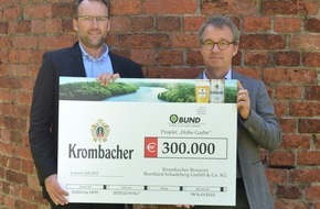 Krombacher Brauerei GmbH & Co.: Die Natur braucht Hilfe: Krombacher spendet weitere 300.000 Euro für einzigartige Auen-Wildnis