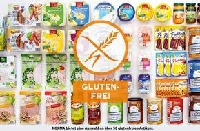 NORMA: NORMA: Schon über 50 Produkte garantiert glutenfrei! / Glutenfrei-Label bei NORMA - eindeutige Produkt-Kennzeichnung für Kunden