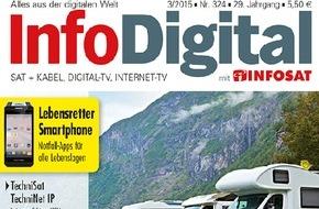 INFOSAT Verlag: InfoDigital - Ausgabe März 2015 im Handel - TV und mehr bei Camping & Co.