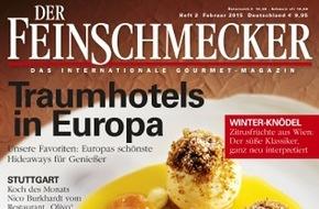 """Jahreszeiten Verlag, DER FEINSCHMECKER: """"Rezepte fürs Leben"""" / Im Gourmet-Magazin DER FEINSCHMECKER erzählen bekennende und prominente Genießer von ihren Lieblingskochbüchern"""