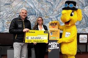Zillertal Arena: Zillertal Arena spendet EUR 10.000,- an SOS Kinderdorf