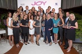 """Bauer Media Group: 21 strahlende Sieger: Bereits zum 9. Mal verleiht JOY den """"JOY Trend Award""""   Auszeichnung von 21 Fashion-, Beauty- und Lifestyle-Produkten / glamouröse Abendveranstaltung im Tantris, München"""