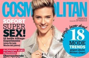 """Bauer Media Group, Cosmopolitan: Scarlett Johansson in COSMOPOLITAN: """"Ich denke nie darüber nach, warum ich mache, was ich mache!"""""""