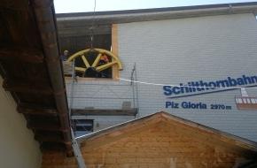 Schilthornbahn AG: Schilthornbahn - Schadenbehebung verläuft planmässig / Fahrplanmässiger Betrieb ab Mittwoch 25.07.2012