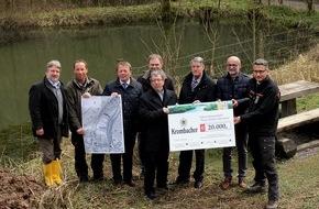 Krombacher Brauerei GmbH & Co.: 20.000 Euro für den Naturschutz - Krombacher unterstützt Renaturierungsmaßnahmen an den Neye-Teichen