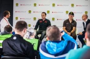 MOL Group: Zwei Helden des Motorsports treffen am Slovakiaring aufeinander