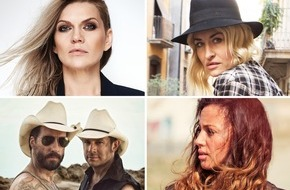 NDR / Das Erste: Die deutsche ESC-Jury 2016: Sarah Connor, Anna Loos, Namika sowie Alec Völkel und Sascha Vollmer (The BossHoss)