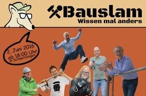 MOLL bauökologische Produkte GmbH: Bauslam 2016: Bauwissen mit Spaß am 2. Juni 2016 in Schwetzingen / 6 Referenten der pro clima Wissenswerkstatt geben ihr Fachwissen in jeweils 10 Minuten weiter
