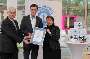 Blauer Engel: Blauer Engel beflügelt Telekom: Erste Schnurlos-Telefone am Markt mit Umweltzeichen ausgezeichnet