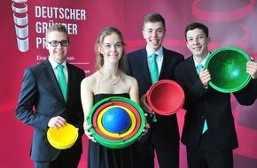 Deutscher Gründerpreis für Schüler: Jugendliche aus Würselen gewinnen den Deutschen Gründerpreis für Schüler