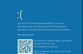 G Data Software AG: Microsoft überarbeitet Fehlermeldungen bei Abstürzen mit Windows 10