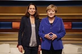 NDR / Das Erste: Bildangebot: Angela Merkel zu Gast bei Anne Will