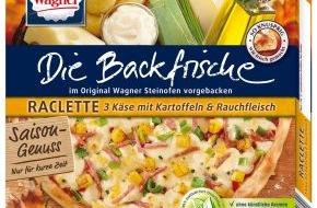 """Nestlé Wagner GmbH: Brandneu vom Pizza-Spezialisten Wagner: Die Backfrische """"Saison-Genuss Raclette"""" (mit Bild)"""