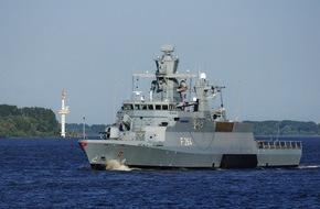 """Presse- und Informationszentrum Marine: Korvette """"Ludwigshafen am Rhein"""" läuft zu EU-Einsatz aus"""