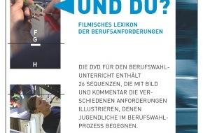"""SDBB / CSFO: DVD """"Und du?"""" - Filmisches Lexikon der Berufsanforderungen des SDBB"""