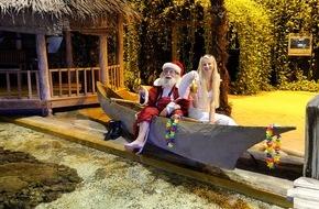 Klimahaus Bremerhaven: Weihnachtsmann im Urlaub gesichtet / Weihnachtsmann begibt sich auf Weltreise