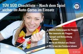 TÜV SÜD AG: Fähnchen, Wimpel, Auto-Corso - Das müssen Sie wissen