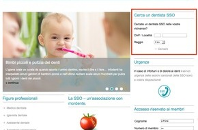 Schweizerische Zahnärzte-Gesellschaft SSO: Con tre clic dal medico dentista SSO