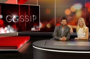 """SAT.1: So hat noch niemand Promis behandelt: """"Gossip - Das Entertainment-Magazin"""" mit Julia Josten und Florian Ambrosius ab Mittwoch, 10. September 2014, 22.15 Uhr"""