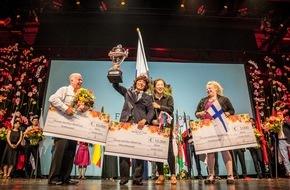 Fleurop AG: Alex Choi aus Südkorea gewinnt die Weltmeisterschaft der Floristen in Berlin