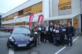 Ford-Werke GmbH: Sparen beim Fahren: REWE Spritsparmeisterschaft: REWE West kürt Gewinner der ECO-Driving-Kampagne.