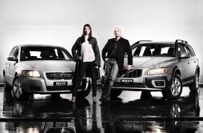 Volvo Car Switzerland AG: Les nouveaux ambassadeurs Volvo - Actrice Melanie Winiger et navigateur professionnel Christian Scherrer