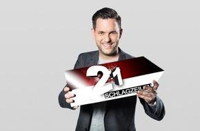 """SAT.1: Packende Headlines, bewegende Geschichten: Matthias Killing zeigt in seiner Show """"21 Schlagzeilen"""" die spektakulärsten  TV-Momente am 18. Mai 2016 um 20:15 Uhr"""