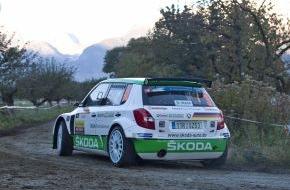 """Skoda Auto Deutschland GmbH: """"Rallye International du Valais"""": Doppelführung für SKODA nach Tag eins"""