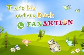 """SWR - Südwestrundfunk: Neue Staffel """"Tiere bis unters Dach"""" startet Ostern mit """"Whatsapp-Fan-Aktion"""""""