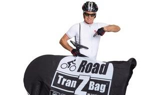 TranZbag.com: Record mondial venu de Suisse / Le sac de transport de vélo pliable TranZbag ROAD trouve place dans le maillot de cyclisme