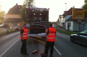 Freiwillige Feuerwehr Lage: FW Lage: Landwirtschaftliches Fahrzeug verursacht Fahrbahnverunreiniung durch Diesel