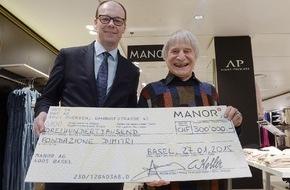 Manor AG: Manor Weihnachts-Charity: 300 000 Franken für die Fondazione Dimitri