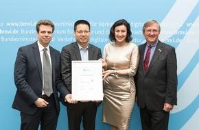 Huawei Technologies Deutschland GmbH: Staatssekretärin Dorothee Bär begrüßt Huawei als Mitglied der Logistik-Allianz