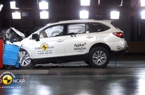 Subaru: Neuer Subaru Outback erhält fünf Euro-NCAP-Sterne / Top-Bewertungen für Insassenschutz / Erstmals mit Assistenzsystem Eyesight