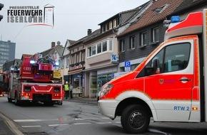 Feuerwehr Iserlohn: FW-MK: Containerbrand und Rauchentwicklung